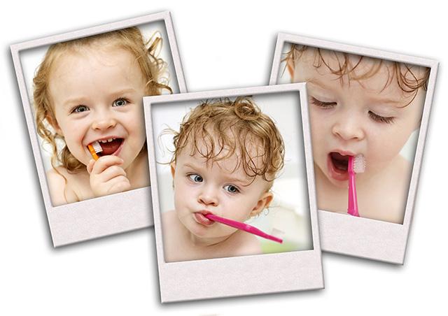babies brushing