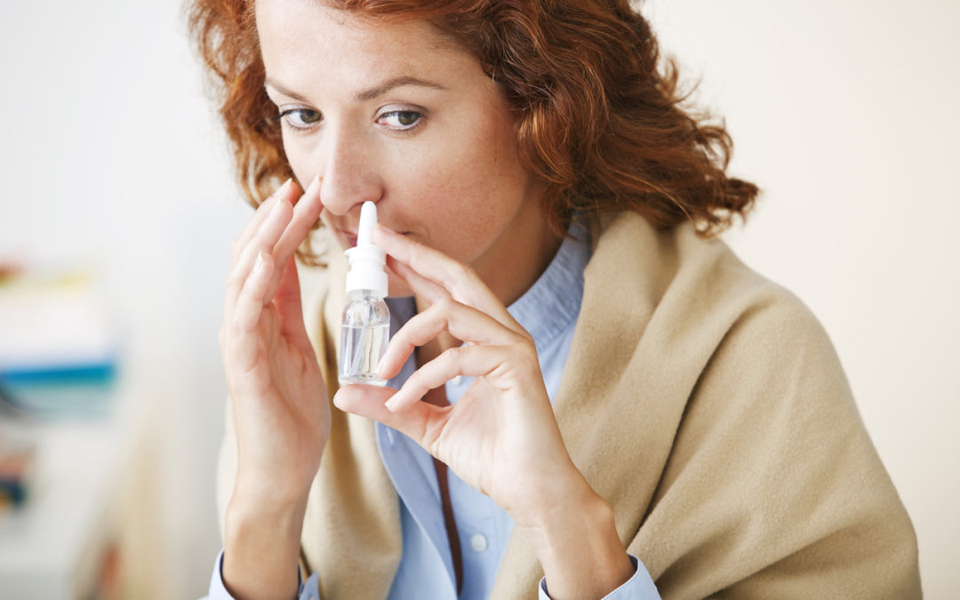 Is it safe to use nasal decongestant spray while pregnant?