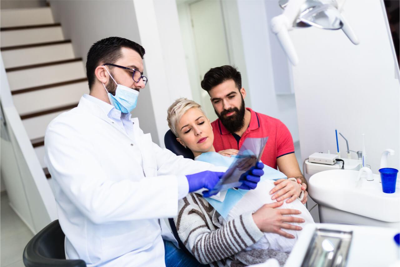 showing dental xrays